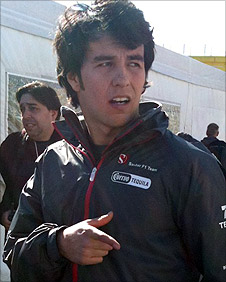 New Sauber Sergio Perez in Valencia