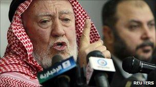 Jordan's IAF leader Hamzah Mansur (Jan 2011)