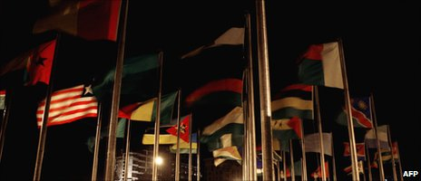 Flags at the 10th African Union Summit 01 February 2008 in Addis Ababa, Ethiopia