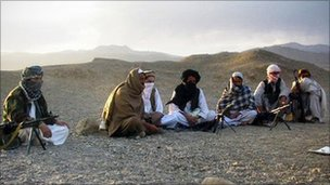 Taliban members in Afghanistan