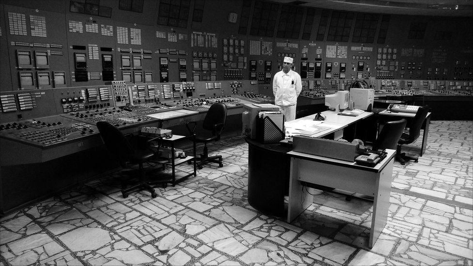 The control room of reactor 3