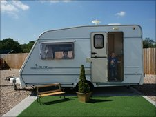 One of Donna's caravans