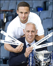 Mark Hateley and son Tom