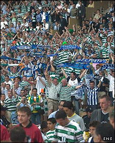 Celtic fans in Seville for the Uefa Cup final