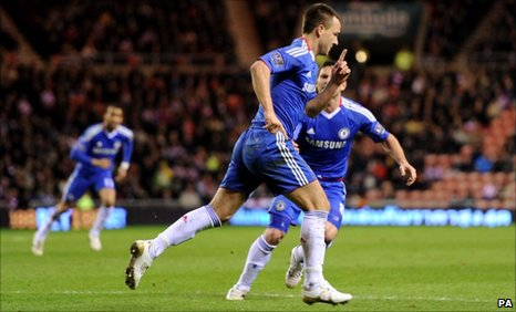 Chelsea's John Terry celebrates his goal