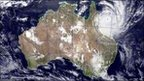 Image provided by NASA shows Tropical Cyclone Yasi as it approaches Queensland