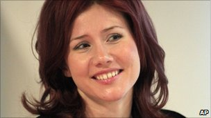 Russian spy Anna Chapman (image from 14 December)