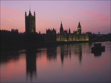 Houses of Parliament in Thames