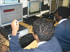 School Reporters at Hendon School complete the survey online