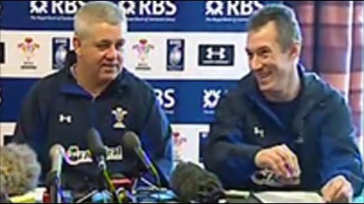 Warren Gatland and Rob Howley