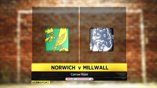 Highlights - Norwich 2-1 Millwall
