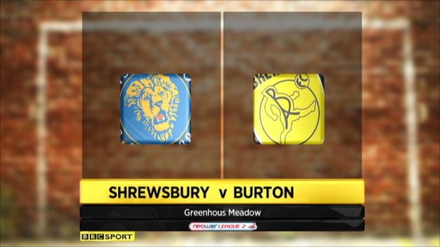 Highlights - Shrewsbury 3-0 Burton