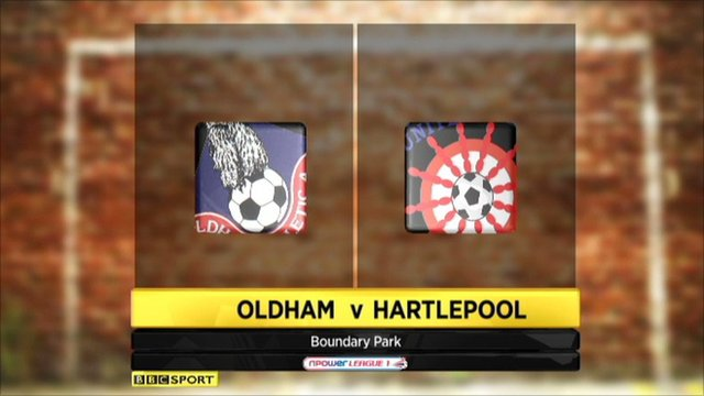 Highlights - Oldham 4-0 Hartlepool