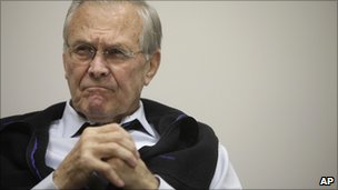 Rumsfeld defends war handling