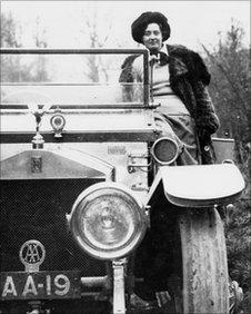 Eleanor Thornton on Lord Monatu's Rolls Royce