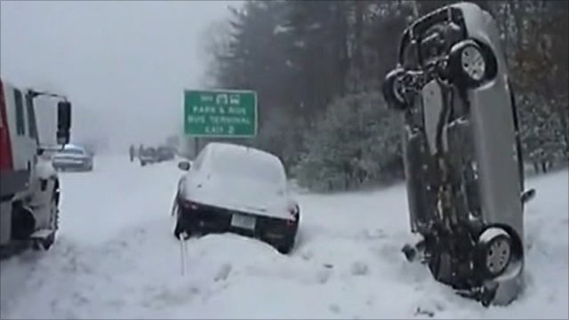 winter storms cripple swathes of the us and canada bbc news