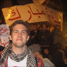Benedict Higgins in Tahrir Square