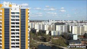 Solar panels on Berlin apartment block