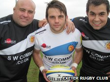 Chris Budgen, Chris Whitehead and Ben Moon