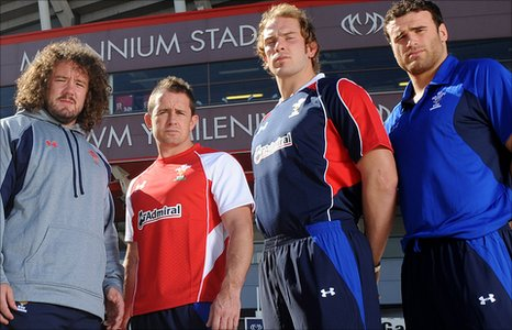 Adam Jones, Shane Williams, Alun Wyn Jones and Jamie Roberts