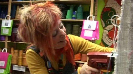 textile artist Ingrid Wagner