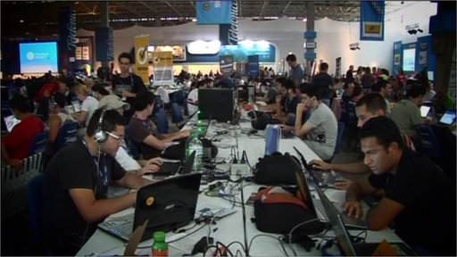 Participants at Campus Party in Brazil