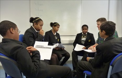 The Bonus Pastor Catholic College pupils discuss their editorial ideas