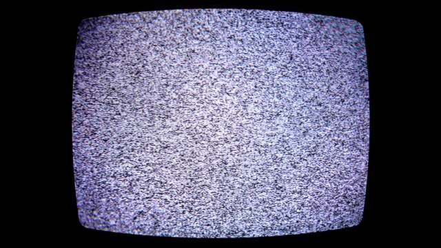 Static television screen