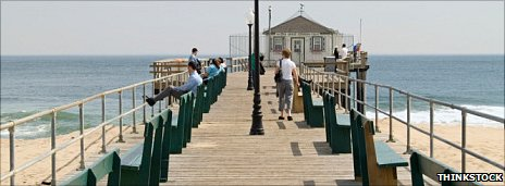 A typical New Jersey boardwalk