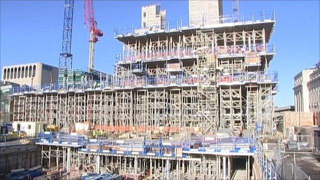Birmingham library construction