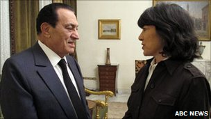 Mr Mubarak vowed never to leave Egypt