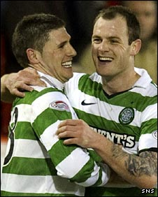 Celtic strikers Gary Hooper and Anthony Stokes