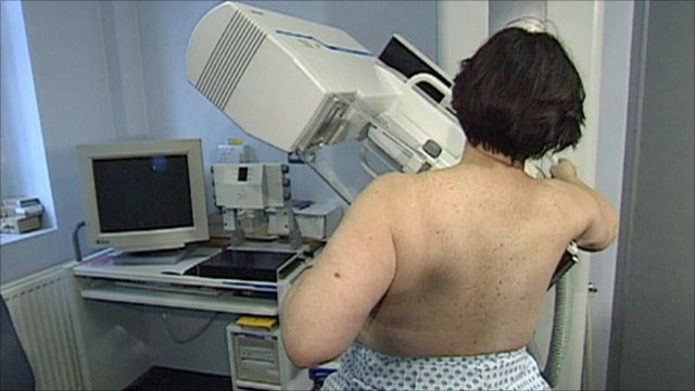 Woman being scanned