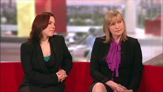 Dr Kat Arney (left) and cancer survivor Heather Millgate