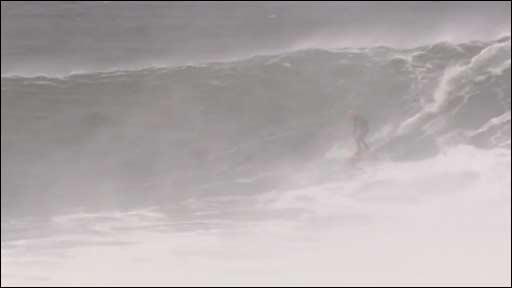 Al Mennie surfing in Ireland