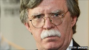 John Bolton, US right-winger and former US ambassador to the UN under President George W Bush - file photo 2006