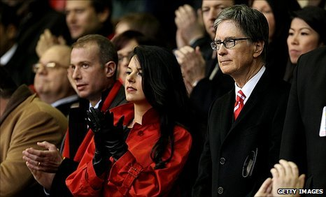 John Henry and his wife Linda Pizzuti soak up the Anfield atmosphere