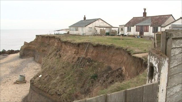The cliffs have eroded 20ft (6.1m) in a decade