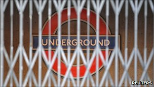 The closed entrance of a Tube station