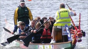 BBC Suffolk dragon boat team