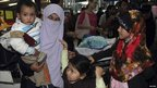 Thai citizens who were evacuated from Egypt arrive at Suvarnabhumi airport in Bangkok - 4 February 2011