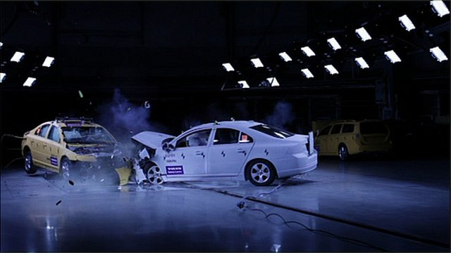 Test car crash
