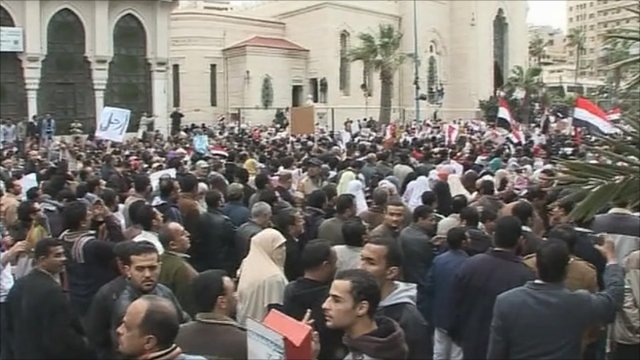 Protesters in Alexandria