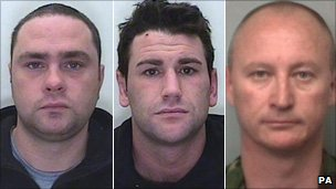 Cpl Stuart Helens; aircraftman Paul Garbutt; Sgt Stuart Walker