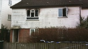 Scene of fatal blaze in Liswerry, Newport