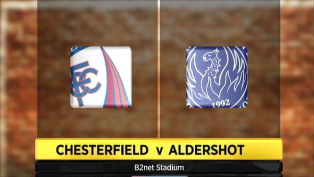 Chesterfield 2-2 Aldershot
