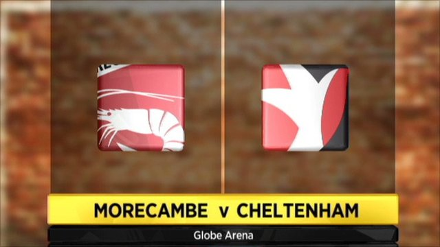 Morecambe 1-1 Cheltenham