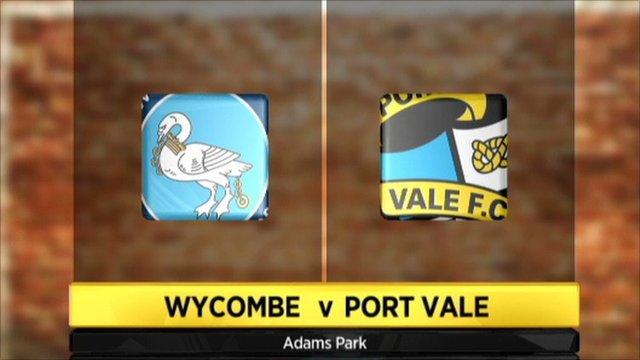 Wycombe 1-1 Port Vale