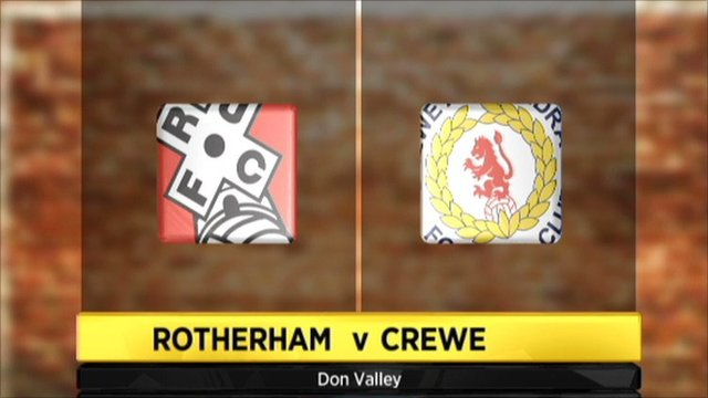 Rotherham 3-1 Crewe