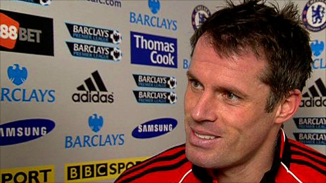 Liverpool's veteran defender Jamie Carragher